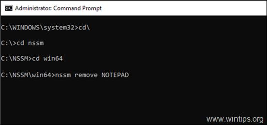 nssm remove service