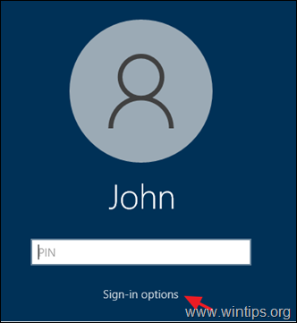 Sign-in options Windows 10