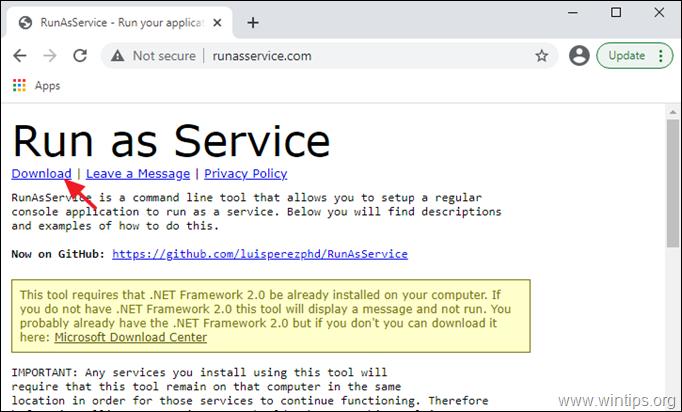 Run as Windows Service