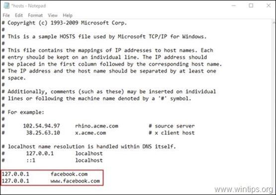 Hosts file - Block Websites