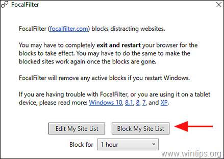 Block My Site - FocalFilter