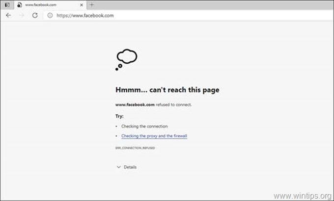 block website in EDGE