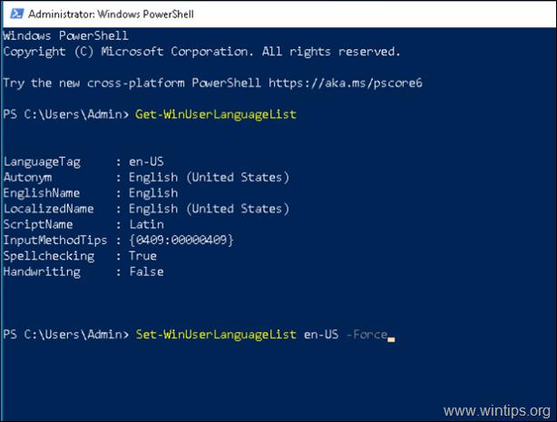 Cannot remove language windows 10