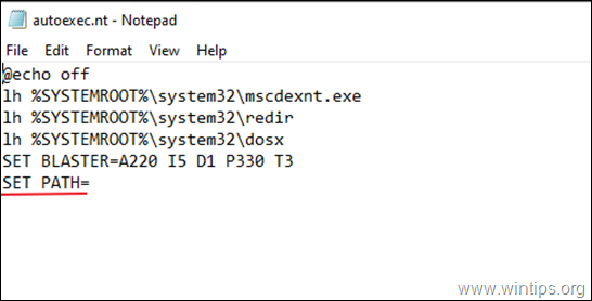 FIX DOS 4G 2001 Exception