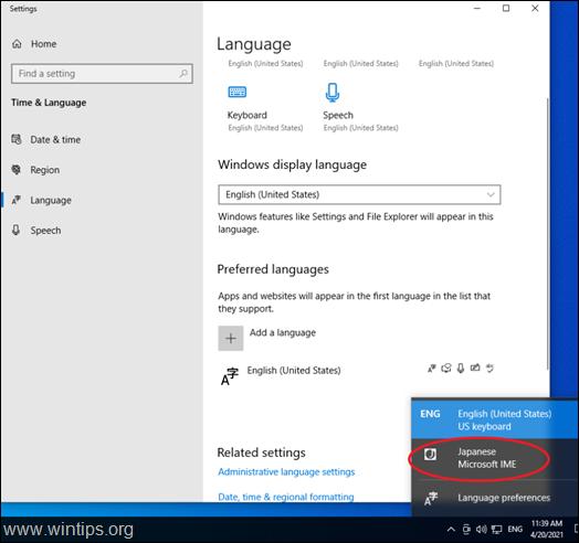 Cannot Remove Keyboard Language windows 10