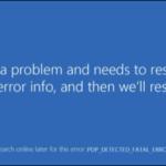 FIX: PNP_DETECTED_FATAL_ERROR on Windows 10.