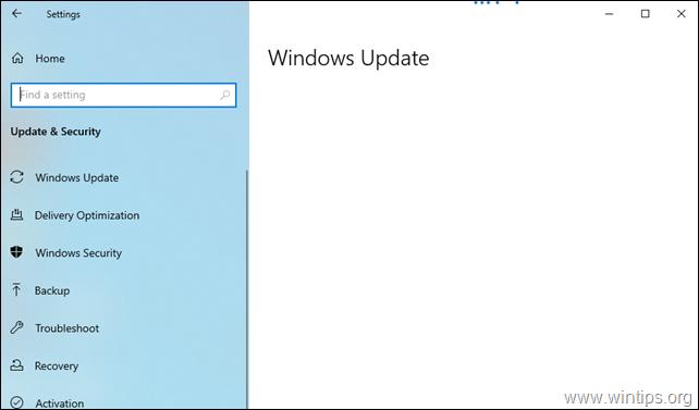 FIX Windows Update Blank Screen issue on Windows 10.
