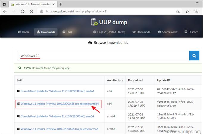 download windows 11 uup dump